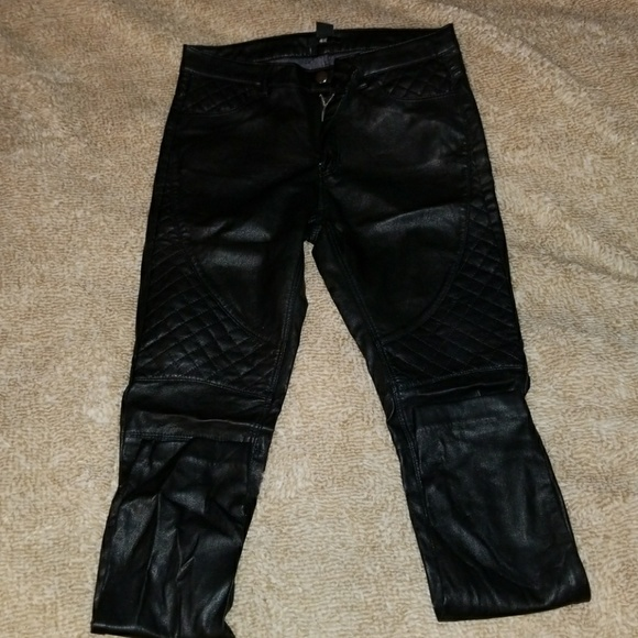 on sale online first look classic styles Womens pattern faux leather skinny jeans